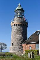 Leuchtturm Hammer Fyr auf der Halbinsel Hammeren, Insel Bornholm, D&auml;nemark, Europa<br /> Lighthouse Hammer Fyr, peninsula Hammeren, Isle of Bornholm, Denmark