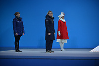 OLYMPIC GAMES: PYEONGCHANG: 13-02-2018, Medals Plaza, Victories Ceremony, ©photo Martin de Jong