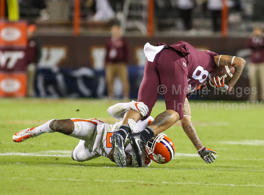 Ncaa Football Clemson At Va Tech Media Images International