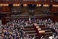Roma, 31 Gennaio 2015<br /> Camera dei Deputati.<br /> Alla quarta votazione viene eletto Sergio Mattarella a Presidente della Repubblica. <br />  applausi per l'elezione.