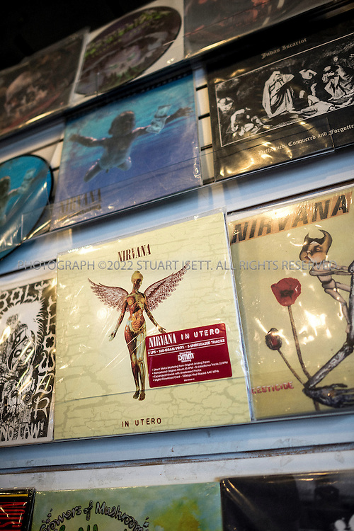 2/27/2014&mdash;Seattle, WA<br /> <br /> Nirvana vinyl records on sale at Zion's Gate records at 1100 East Pike Street in Seattle.<br /> <br /> Photograph by Stuart Isett<br /> &copy;2014 Stuart Isett. All rights reserved.