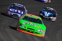 Oct. 10, 2009; Fontana, CA, USA; NASCAR Nationwide Series driver Brad Keselowski during the Copart 300 at Auto Club Speedway. Mandatory Credit: Mark J. Rebilas-