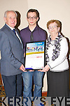 Luke Stafford -Lacey with his Merit award on Friday adfter they were presented to them at the Lee Strand Garda Youth Award,in The Brandon Hotel, Tralee...