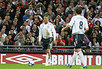 28 May 2008: David Beckham (ENG) (7) lines up over a free kick. The England Men's National Team defeated the United States Men's National Team 2-0 at Wembley Stadium in London, England in an international friendly soccer match.