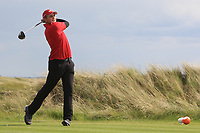 Casey Jarvis (RSA) on the 16th tee during Round 4 of The East of Ireland Amateur Open Championship in Co. Louth Golf Club, Baltray on Monday 3rd June 2019.<br /> <br /> Picture:  Thos Caffrey / www.golffile.ie<br /> <br /> All photos usage must carry mandatory copyright credit (© Golffile | Thos Caffrey)