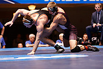 CLEVELAND, OH - MARCH 10: Ryan Epps, of Augsburg, right, wrestles Logan Thomsen, of Wartburg, in the 157 weight class during the Division III Men's Wrestling Championship held at the Cleveland Public Auditorium on March 10, 2018 in Cleveland, Ohio. (Photo by Jay LaPrete/NCAA Photos via Getty Images)