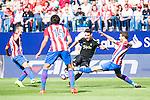 Atletico de Madrid's player Koke Resurrección and Stefan Savic and Sporting de Gijon's player Burgui during a match of La Liga Santander at Vicente Calderon Stadium in Madrid. September 17, Spain. 2016. (ALTERPHOTOS/BorjaB.Hojas)
