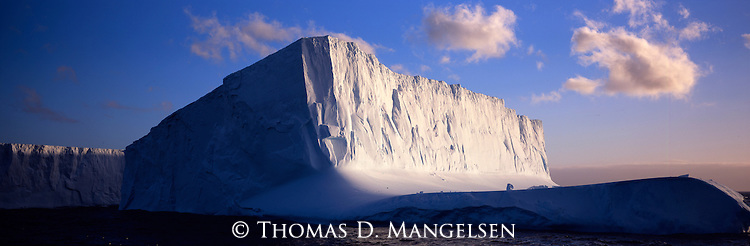 Icebergs in Drygalski Fjord of South Georgia.
