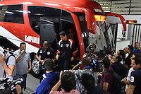 SÃO PAULO, SP, 28 DE FEVEREIRO DE 2013 - TAÇA LIBERTADORES DA AMÉRICA - SÃO PAULO x THE STRONGEST: Jogador Paulo Henrique Ganso do São Paulo chegam para a partida São Paulo x The Strongest, válida pela 2ª rodada do grupo 3 da Taça Libertadores da América de 2013, disputada no estádio do Morumbi em São Paulo. FOTO: LEVI BIANCO - BRAZIL PHOTO PRESS