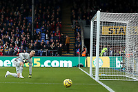 3rd November 2019; Selhurst Park, London, England; English Premier League Football, Crystal Palace versus Leicester City; Kasper Schmeichel of Leicester City watches a shot go wide - Strictly Editorial Use Only. No use with unauthorized audio, video, data, fixture lists, club/league logos or 'live' services. Online in-match use limited to 120 images, no video emulation. No use in betting, games or single club/league/player publications