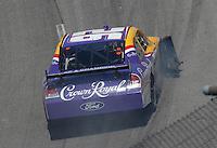 May 6, 2007; Richmond, VA, USA; Nascar Nextel Cup Series driver Jamie McMurray (26) blows a tire during the Jim Stewart 400 at Richmond International Raceway. Mandatory Credit: Mark J. Rebilas
