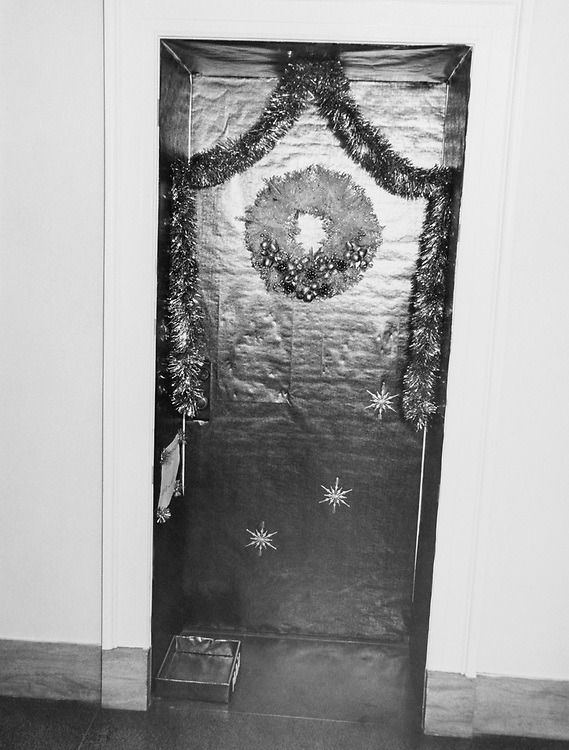 Decorated Congressman's office door around Christmas. (Photo by Dev O'Neill/CQ Roll Call via Getty Images)