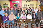 Denis Cournane seated centre celebrated his 65th birthday with family and friends in the Bonnan Bui? Bar in Cahersiveen on Friday night last.