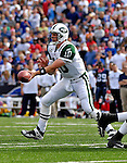 30 September 2007: New York Jets quarterback Chad Pennington makes a handoff against the Buffalo Bills at Ralph Wilson Stadium in Orchard Park, NY. The Bills defeated the Jets 17-14 handing the Jets their third loss of the season...Mandatory Photo Credit: Ed Wolfstein Photo