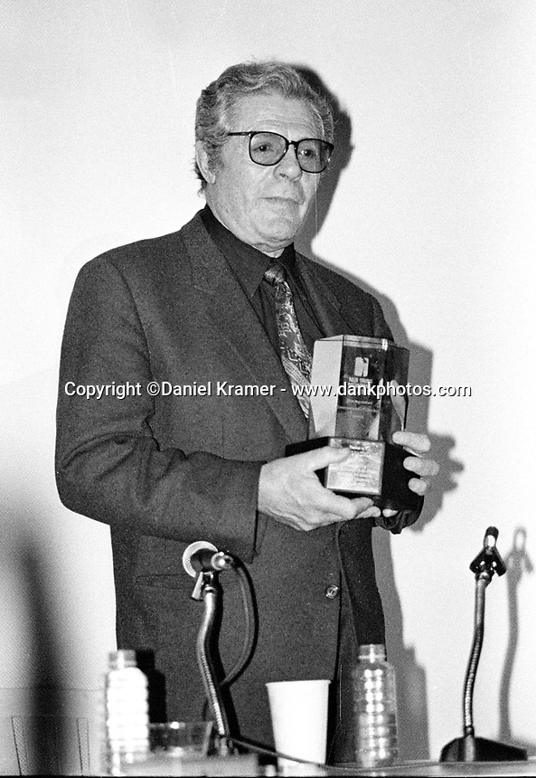 "Marcello Mastroianni, best known for his role in Federico Fellini's 1960 film ""La Dolce Vita"", was presented with the Distinguished International Filmmaker Award Jan. 16, 1993 at the fourth annual Palm Springs' International Film Festival."
