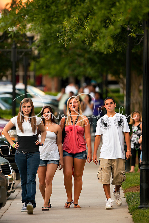 Residents and visitors enjoy Birkdale Village, a mixed-use residential and retail center in Huntersville, NC, located 12 miles north of Charlotte, NC. Considered an urban mixed-use community, Birkdale Village has restaurants, stores, cafes, a movie theater, single-family houses, as well as apartments and condos built above retail.
