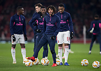 Mohamed Elneny of Arsenal pre match during the UEFA Europa League match between Arsenal and Qarabag FK at the Emirates Stadium, London, England on 13 December 2018. Photo by Andy Rowland.