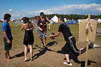 Water-fight in a Mexican/French village. Photo: Kim Rask/Scouterna