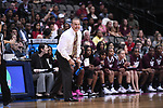DALLAS, TX - MARCH 31: Head coach Vic Schaefer of Mississippi State Lady Bulldogs directs his team during the 2017 Women's Final Four at American Airlines Center on March 31, 2017 in Dallas, Texas. (Photo by Justin Tafoya/NCAA Photos via Getty Images)