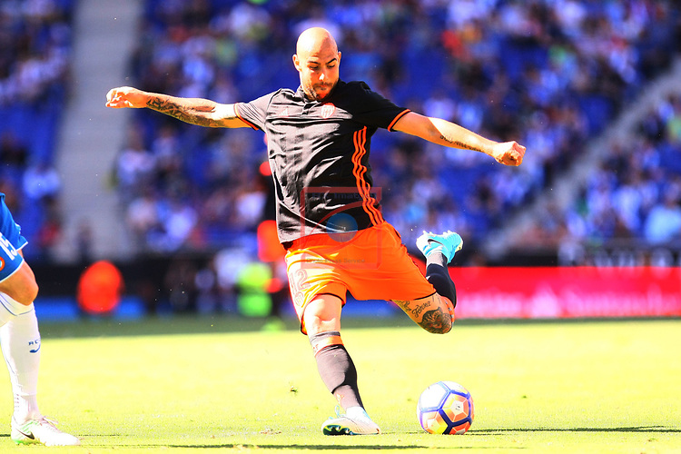 League Santander 2016/2017. Game: 37.<br /> RCD Espanyol vs Valencia CF: 0-1.<br /> Simone Zaza.