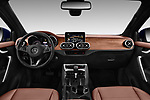 Stock photo of straight dashboard view of a 2018 Mercedes Benz X Class Power 4 Door Pick Up