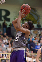 NWA Democrat-Gazette/BEN GOFF @NWABENGOFF<br /> Bentonville vs Fayetteville basketball on Friday Feb. 26, 2016 in Bentonville's Tiger Arena.