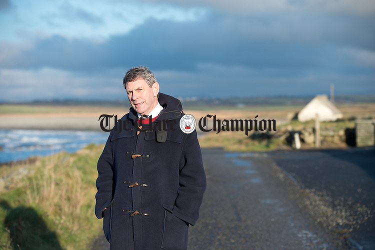 General Election candidate Doctor Michael Harty of Kilmihil pictured in Carrowmore in West Clare. Photograph by John Kelly.