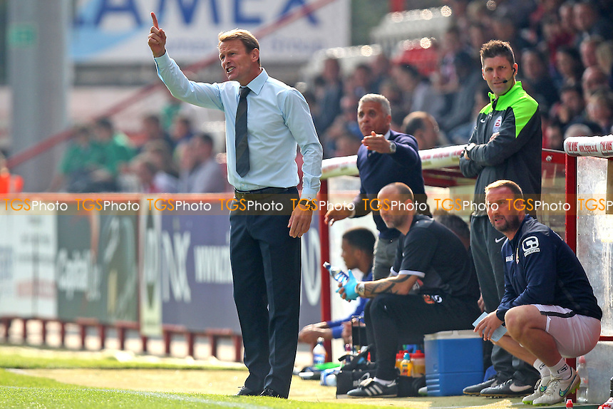 Stevenage manager Teddy Sheringham during Stevenage vs Carlisle United, Sky Bet League 2 Football at the Lamex Stadium, Stevenage, England on 03/10/2015