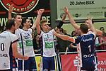06.01.2018,  Lueneburg GER, VBL, SVG Lueneburg vs TV Buehl im Bild die Lueneburger Mannschaft jubelt ueber den Sieg/ Foto © nordphoto / Witke