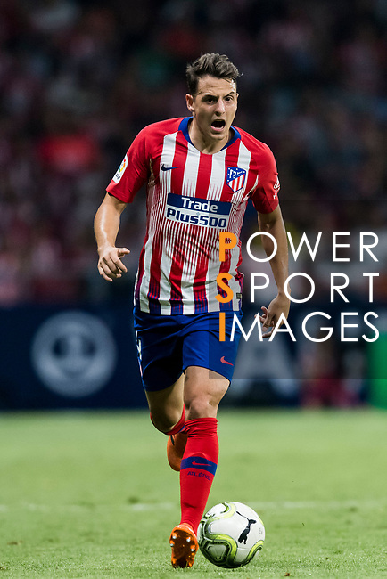 Santiago Arias of Atletico de Madrid reacts during their International Champions Cup Europe 2018 match between Atletico de Madrid and FC Internazionale at Wanda Metropolitano on 11 August 2018, in Madrid, Spain. Photo by Diego Souto / Power Sport Images