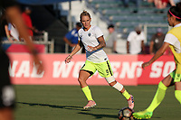 Cary, North Carolina  - Saturday August 05, 2017: Jessica Fishlock prior to a regular season National Women's Soccer League (NWSL) match between the North Carolina Courage and the Seattle Reign FC at Sahlen's Stadium at WakeMed Soccer Park. The Courage won the game 1-0.