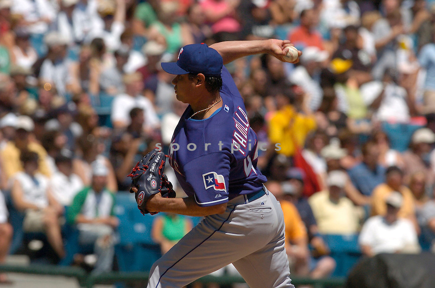 Vincente Padilla, of the Texas Rangers, in action against the Chicago White Sox of July 23, 2006 inn Chicago...White Soz win 5-0...Chris Bernacchi / SportPics