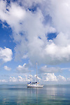 Sailboat at anchor in Florida Bay, off Islamorada, Florida Keys