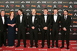 Porfirio Enriquez, Gracia Querejeta, Pablo Iglesias, Antonio Resines, Albert Rivera and Edmon attend 30th Goya Awards red carpet in Madrid, Spain. February 06, 2016. (ALTERPHOTOS/Victor Blanco)