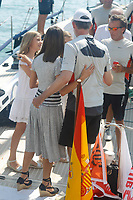 PALMA DE MALLORCA, SPAIN &ndash; AUGUST 04: Queen Letizia, Princess Leonor and Princess Sofia at the end of the last day of the King Cup regatta at the Royal nautical club in Palma de Mallorca, Spain on the 4th of August of 2018. ***NO SPAIN***<br /> CAP/MPI/RJO<br /> &copy;RJO/MPI/Capital Pictures
