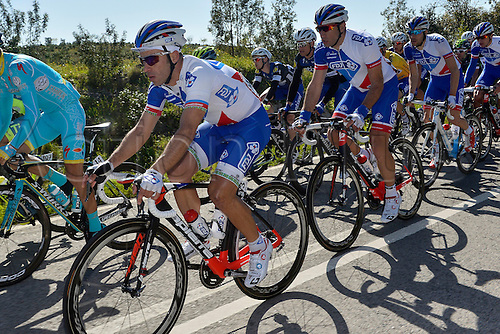 20.02.2016. Alportel, Portugal.  FISCHER Murilo Antonio (BRA) Rider of FDJ in action during stage 4 of the 42nd Tour of Algarve cycling race with start in S. Brss de Alportel and finish in Tavira on February 20, 2016 in Tavira, Portugal.