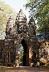 Angkor Thom North Gate 01 - Early morning, south side of Angkor Thom North Gate, Angkor, Cambodia