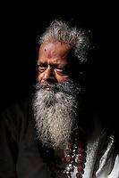 Indian holy man in Varanasi, Uttar Pradesh, India.