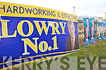 LOWRY NO. 1: The appearance of a large election poster for Tipperary North TD, Michael Lowry on the main Milltown to Killorglin road caused some confusion last week. Mystery surrounds how the poster made its way from the other side of the province.