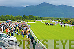 The crowd watch Icemancometh beat off the challenge of Sinsational in the Derrinstown Stud Apprentice claiming race at the Killarney races on Monday   Copyright Kerry's Eye 2008
