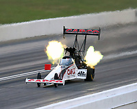 May 18, 2018; Topeka, KS, USA; NHRA top fuel driver Steve Torrence during qualifying for the Heartland Nationals at Heartland Motorsports Park. Mandatory Credit: Mark J. Rebilas-USA TODAY Sports