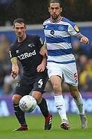 Craig Bryson of Derby County and Geoff Cameron of Queens Park Rangers during Queens Park Rangers vs Derby County, Sky Bet EFL Championship Football at Loftus Road Stadium on 6th October 2018