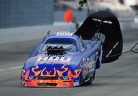 Feb. 11, 2012; Pomona, CA, USA; NHRA top alcohol funny car driver Jay Payne during the Winternationals at Auto Club Raceway at Pomona.Mandatory Credit: Mark J. Rebilas-