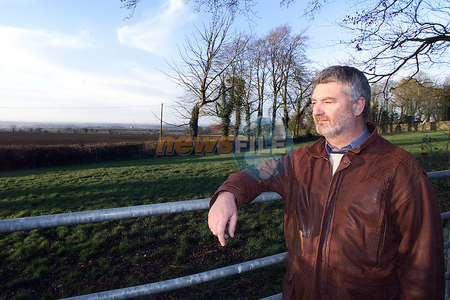 Louth IFA Chairman Raymond O'Malley surveying his lands in Co Louth.Pic Fran Caffrey Newsfile.©Newsfile Ltd.