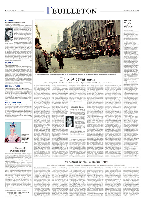 Die Welt, Germany, 2006 October 25, Photographer: Jenö Kiss