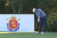 Cormac Sharvin (NIR) on the 17th tee during Round 3 of the Challenge Tour Grand Final 2019 at Club de Golf Alcanada, Port d'Alcúdia, Mallorca, Spain on Saturday 9th November 2019.<br /> Picture:  Thos Caffrey / Golffile<br /> <br /> All photo usage must carry mandatory copyright credit (© Golffile | Thos Caffrey)