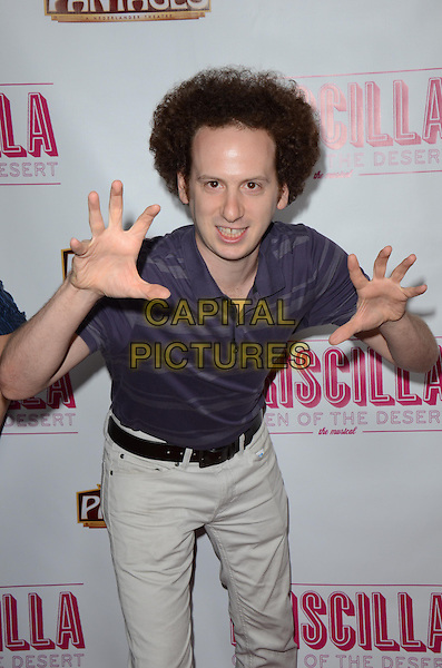 Josh Sussman<br /> Tony Award-Winning Broadway Musical 'Priscilla Queen Of The Desert&quot; celebrates its L.A. Premiere at Pantages Theatre, Hollywood, California, USA.<br /> May 29th, 2013<br /> half length purple top beige trousers hands arms<br /> CAP/ADM/TW<br /> &copy;Tonya Wise/AdMedia/Capital Pictures