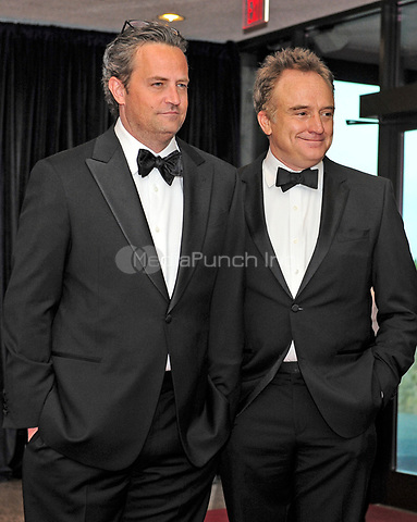 Matthew Perry and Bradley Whitford arrive for the 2013 White House Correspondents Association Annual Dinner at the Washington Hilton Hotel on Saturday, April 27, 2013.<br /> Credit: Ron Sachs / CNP<br /> (RESTRICTION: NO New York or New Jersey Newspapers or newspapers within a 75 mile radius of New York City) /MediaPunch