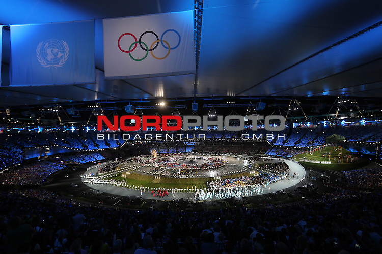 27.07.2012., England, London - Opening ceremony of Summer Olympic Games London 2012.<br /> <br /> Foto &copy;  nph / PIXSELL / Igor Kralj