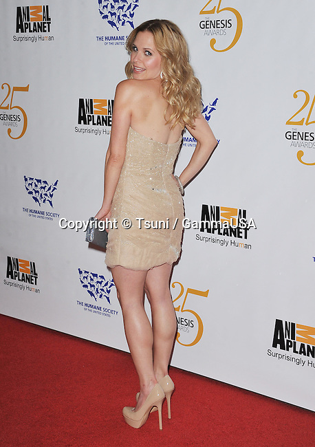 Sally Pressman   at 25th Anniversary Genesis Awards-2011 at the Century Plaza Hotel In Los Angeles.